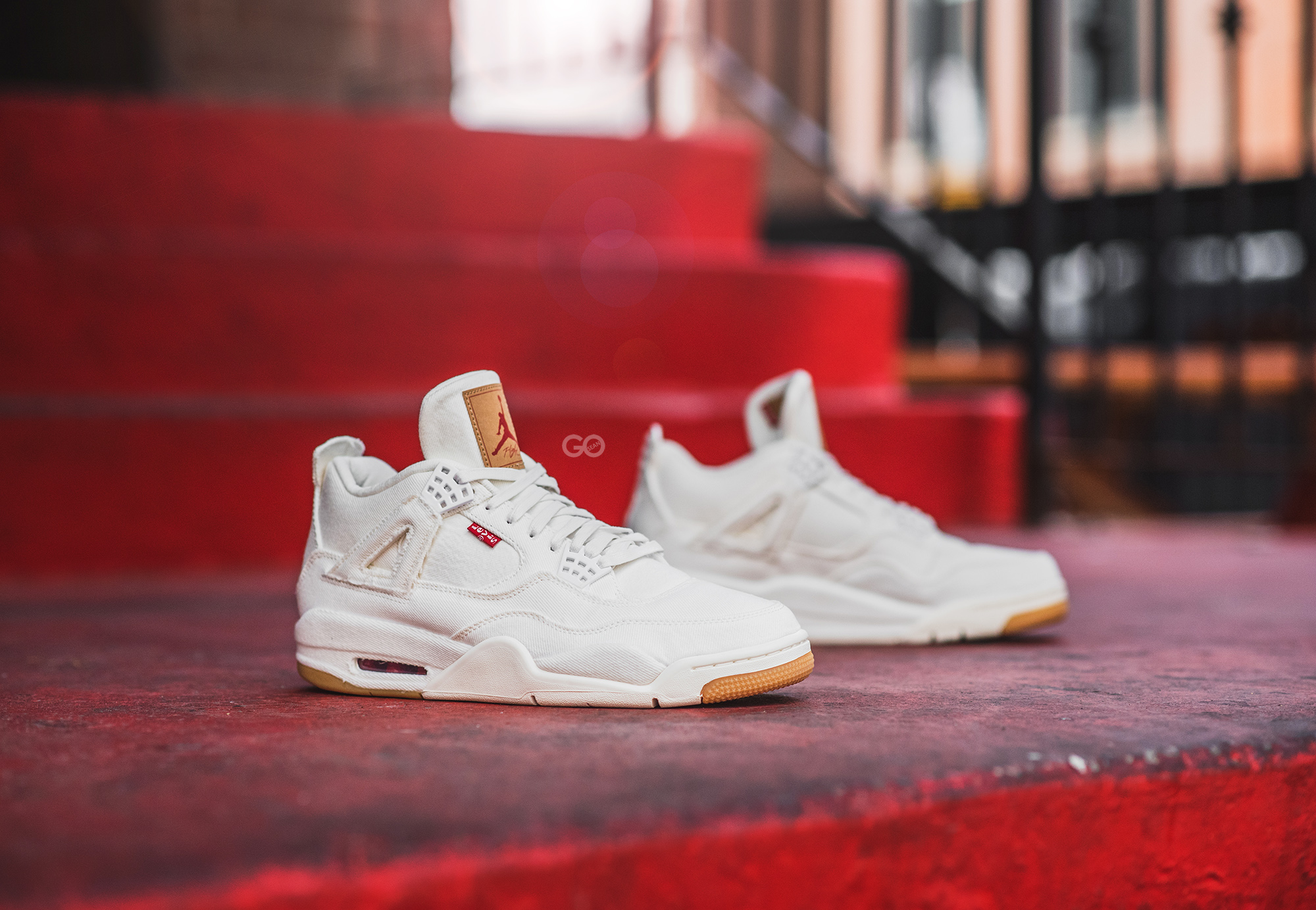 "90c19c73d256d1 Levi s x Air Jordan 4 Retro NRG ""White"" Review – Sean Go"