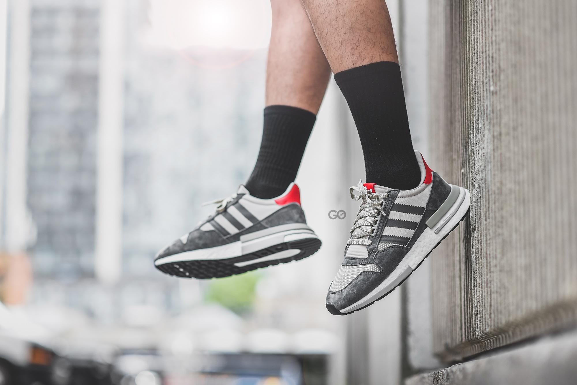 "Adidas ZX 500 RM ""Grey Scarlet"" Review – Sean Go"
