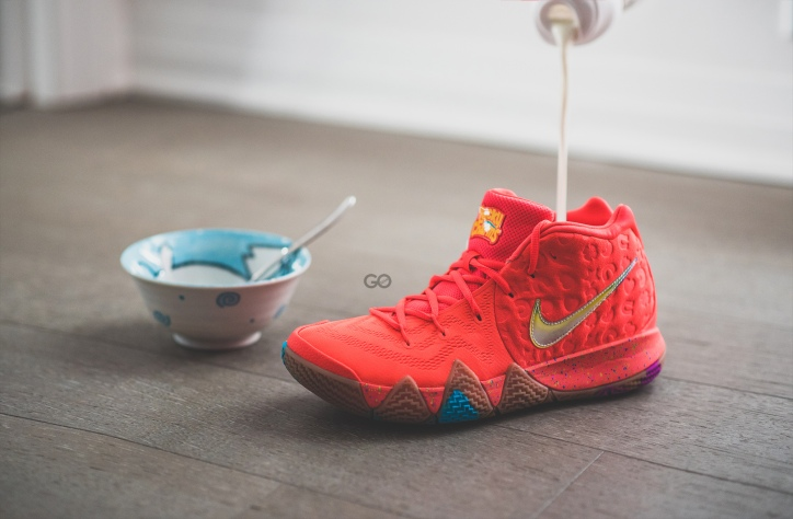 """free shipping d132e 7bb4a Nike Kyrie 4 """"Lucky Charms"""" Review – Sean Go"""