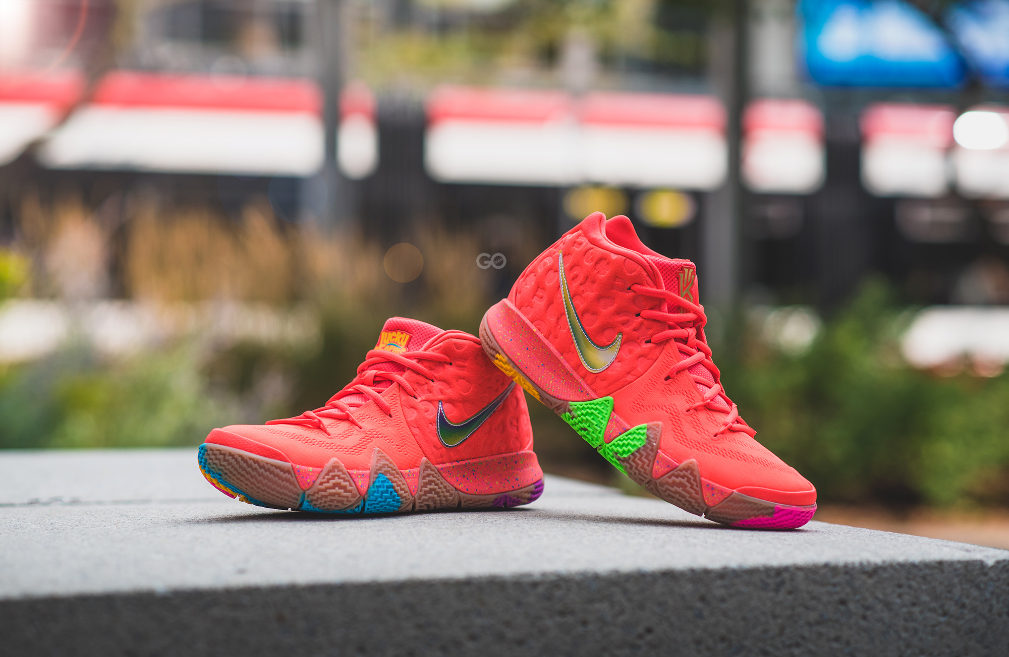 "free shipping 10fdb 1fc24 Nike Kyrie 4 ""Lucky Charms"" Review – Sean Go"