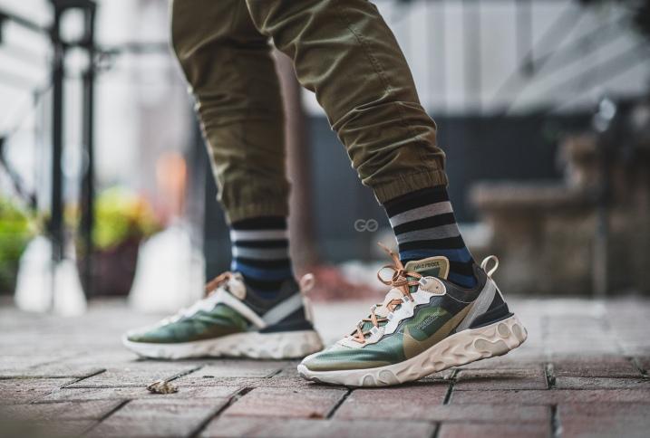 "8a1765c9c08e Undercover x Nike React Element 87 ""Green Mist"" Review – Sean Go"